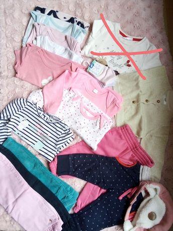 Paczka ubrań dla dziewczynki 74 i 80
