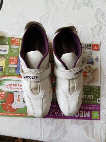 Buty damskie Lacoste białe skóra, rozmiar 40.5
