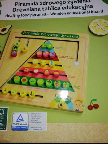 Drewniana piramida zdrowego żywienia