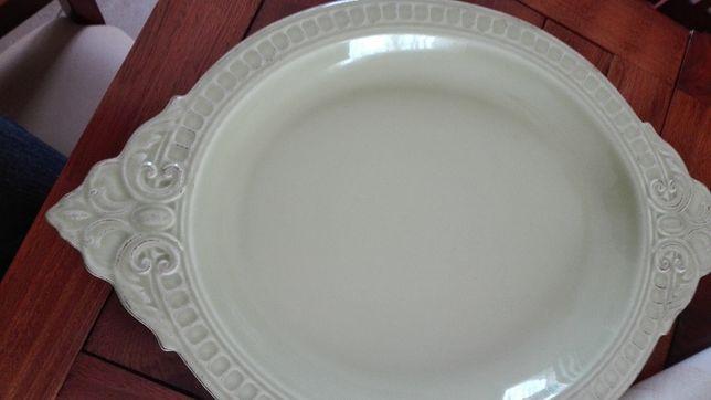 Travessa oval cerâmica