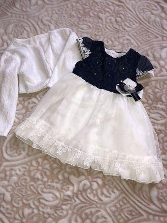 Нарядное платье на девочку 1-2 года.