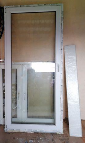 Sprzedam używane okno balkonowe i parapet