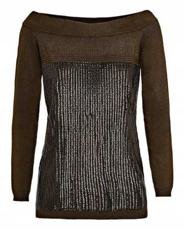 GUESS sweter z cekinami M oryginalny