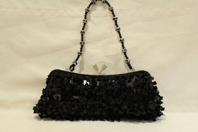 Mala Senhora lantejoulas pretas pega bolinhas pretas coloridas Vintage