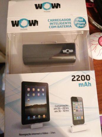 Carregador inteligente com bateria para ipad/iPhone e ipod