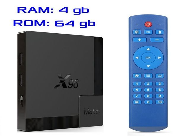 2020 год X96 MATE 4gb 64gb на Андроид 10 Смарт ТВ приставка + Гарантия