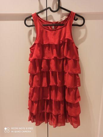 Święta sukienka h&m czerwona r. 146