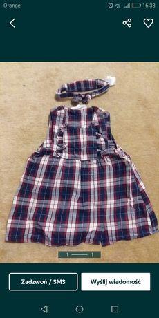 Sukienka w kratkę H&M