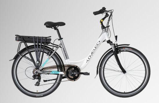 """Miejski rower elektryczny - LOVELEC + Polaris 26"""" 36v 13Ah Biały"""