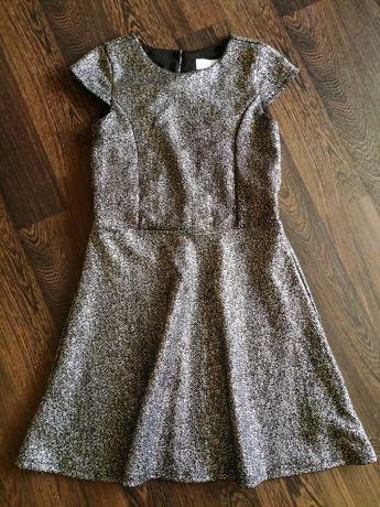 Srebrna,błyszcząca elegancka sukienka Cool Club dla dziewczynki r140cm