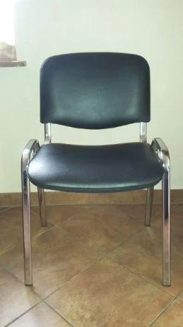 Krzesła do biura*2szt. poczekalnia*czarne solidne*jak nowe !!! WYSYŁKA