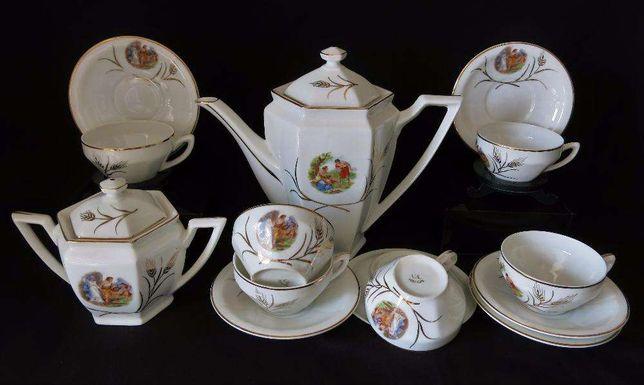 Serviço de café para 6 pessoas - Porcelana Vista Alegre Art Deco