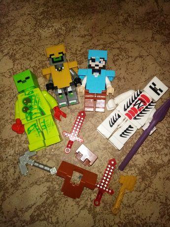 большие человечки по типу лего.minecraft, конструктор майнкрафт