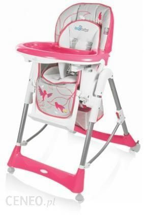 Fotelik, krzesełko do karmienia Baby Design dla dziewczynki.