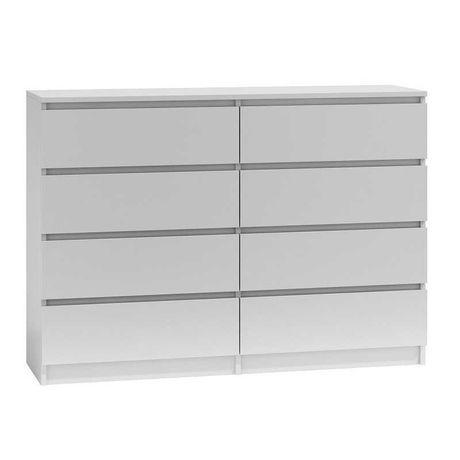 Biała komoda 8 szuflad szafka, na ubrania ,sypialnia WYSYŁKA 35 ZŁ