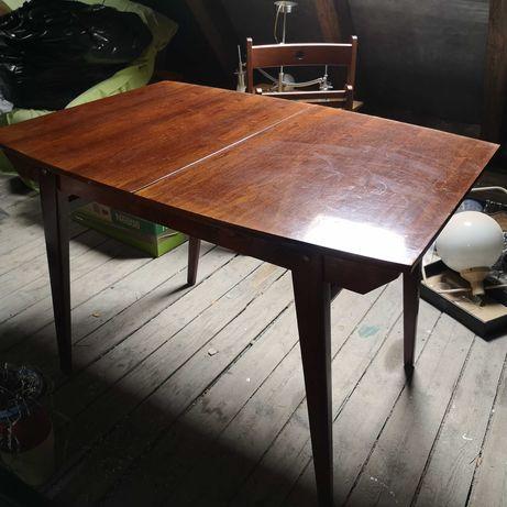 Stół prl rozkładany, krzesła