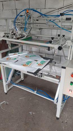 Шелкография. Станок для печати на спанбонде, пакетах, картоне и тд