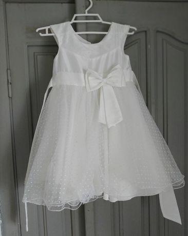 Детское нарядное пышное платье, шубка и колготки