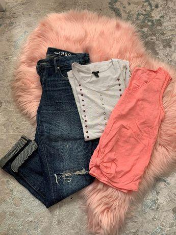 Komplet ubrań (dżinsy i dwie bluzki)