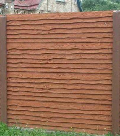 Продам бетонний забор, бордюр, стовпчики виноградні, ворота