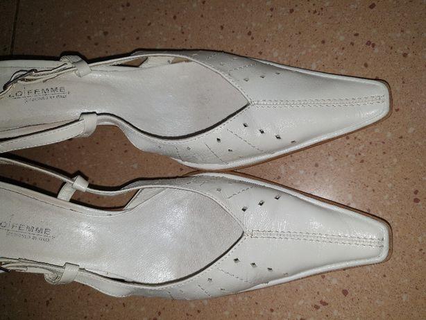 Białe szpilki, pantofle, DO ŚLUBU roz. 40