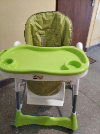 Krzesło do karmienia rozkładane i regulowana wysokość