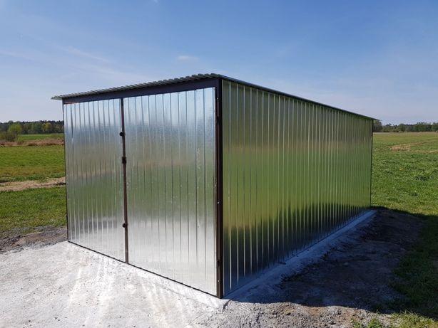 Garaż blaszany 4x5 producent schowki schowek na budowę blaszak garaż