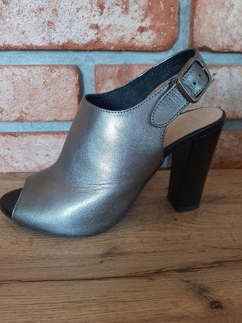 Piękne buty skórzane palazzo  r 38