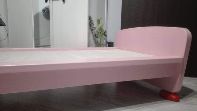 Łóżko + materac Ikea róż Mammut