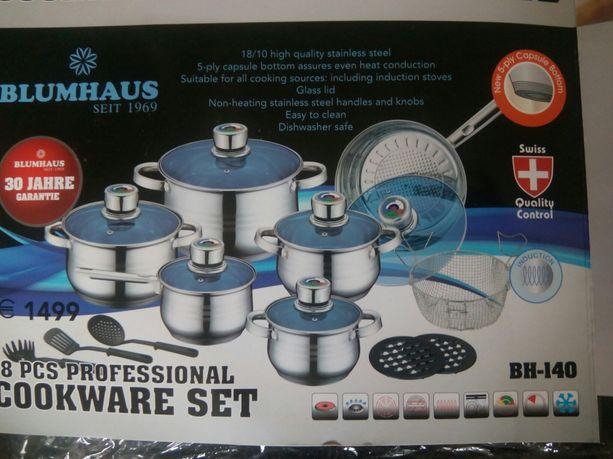 Элитный набор посуды Blumhaus c термодатчиками, 18 предметов