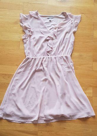 Sukienka pudrowy róż 40 H&M