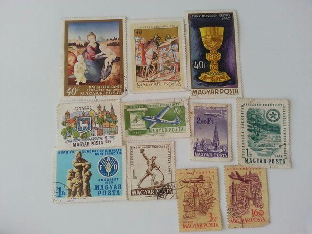 Znaczki pocztowe stare węgierskie Magyar Posta