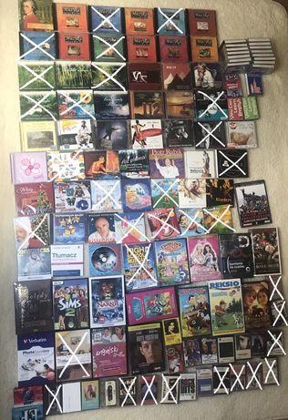 Płyty DVD filmy muzyka CD gra kasety magnetofon bajki dzieci angielski