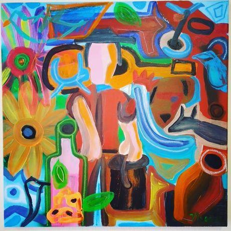 Pintura, acrílico sobre tela, 50x50 cm, 2021