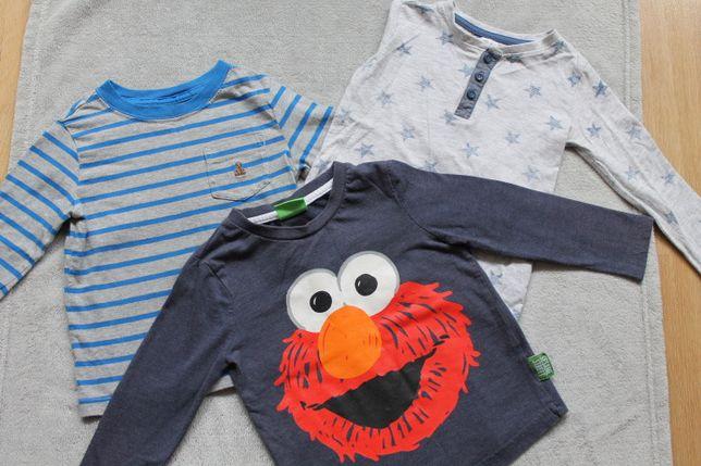 3 bluzki chłopięce Elmo z długim rękawem 86-92 cm