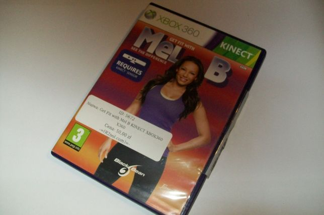 """Get Fit with Mel B"" KINECT XBOX360 X360"