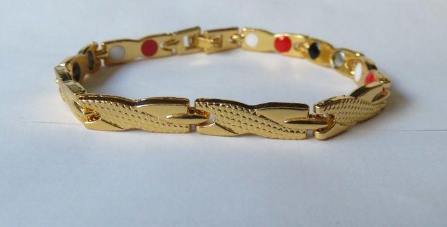 Bransoleta bransoletka magnetyczna wężyk kolor złoty
