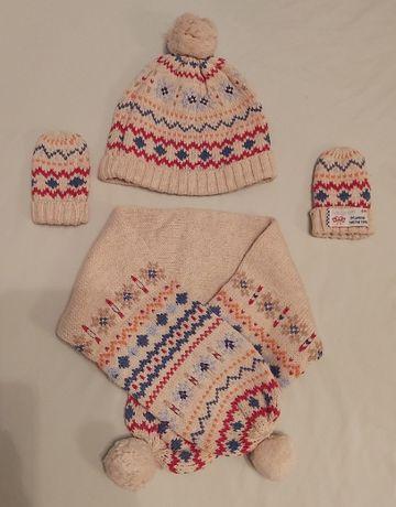 Czapka, szalik, rękawiczki Mayoral Newborn, r. 50-54