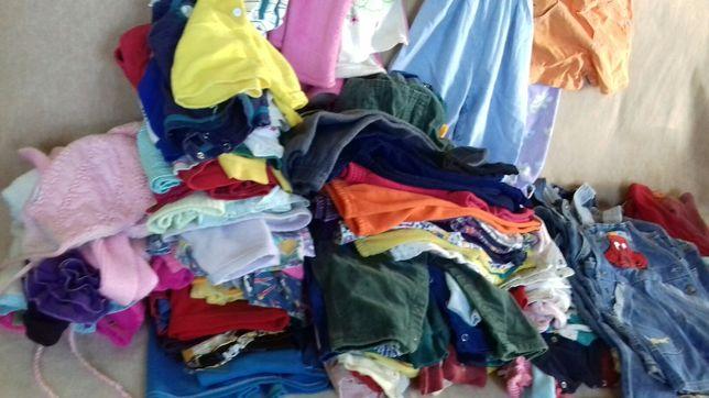 Очень много детской одежды.Три пакета.