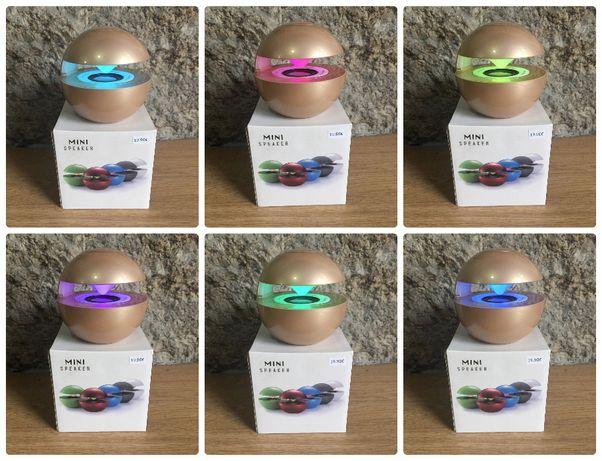 Coluna Bluetooth com entrada cartão memória TF / Microfone/Luz LED/etc