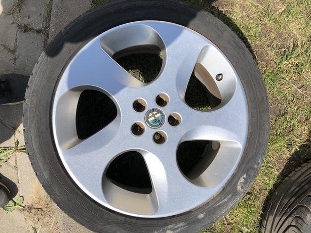 "Felgi aluminiowe 17"" 5x98 (Toora Alfa Romeo) + opony letnie 215/45"