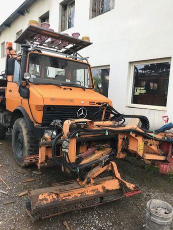 PŁUG odśnieżanie Mercedes UNIMOG 427 kosiarka MULAG, DUCKER, MB