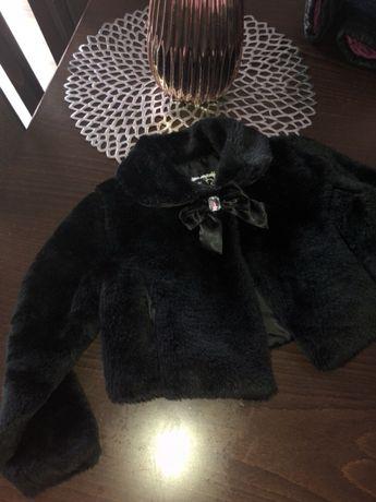 Śliczny płaszczyk bolerko futerko elegancki 3 lata kurtka