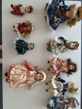 Colecção de Bonecas antigas com corpo em porcelana