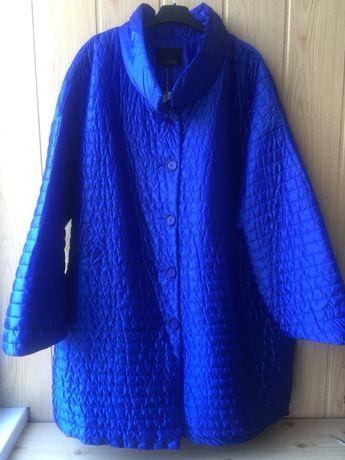 Женская стёганная куртка пальто для шикарной дамы размер 56-58