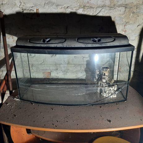 Akwarium z pokrywa profilowane 120l