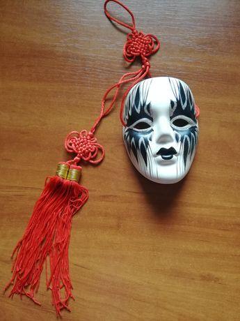 Piękna maska wenecka dekoracja z gipsu