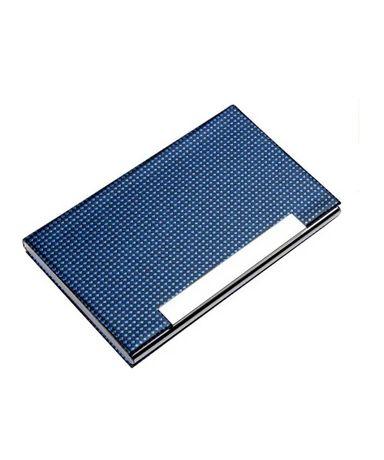Универсальная металлическая визитница-футляр «indigo» (синий)