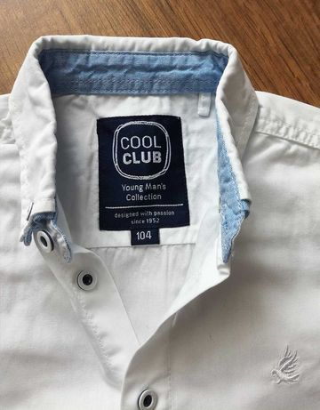 Biała koszula r.104 CoolClub