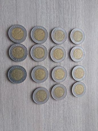 Monety 5zl x 15 szt 2008 oraz 5zl x 2 szt 2020